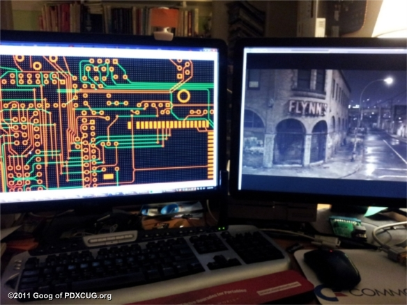 Watching Tron While Designing the Circuit Board